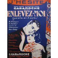 GABAROCHE Gaston J' Hésite Chant Piano 1931 partition sheet music score