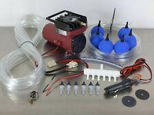 12 V Transportbelüfter Sauerstoffpumpe Belüfter Teichbelüfter Luftkompressor Set