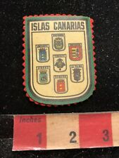 Vtg As-Is (felt coming unglued) CANARY ISLANDS ISLAS CANARIAS Jacket Patch 84FF