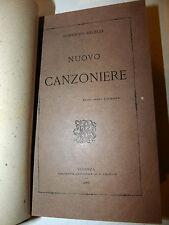 Poesia versi Rime - Domenico Milelli: Nuovo Canzoniere 1888 Cosenza Catanzaro