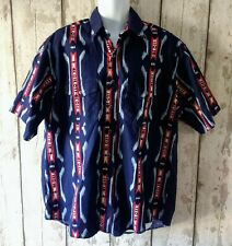 RARE Wrangler Western Cowboy Short Sleeve Shirt Aztec Jazzy XL Vintage Retro