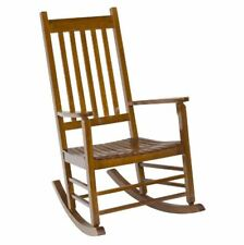 Rocking Chair Patio Porch Rocker Wooden Seat Seating Outdoor Furniture Garden
