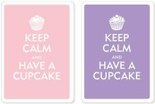 NEW Keep Calm And Have A Cupcake Premium Plastic Playing Cards Bridge Size