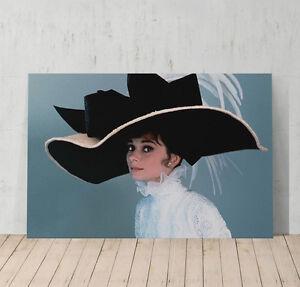 Audrey Hepburn Decorative Art Canvas Print Modern Wall Decor Artwork Framed
