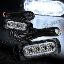 8 LED White Car Truck Emergency Beacon Warn Hazard Flash Strobe Light Universal