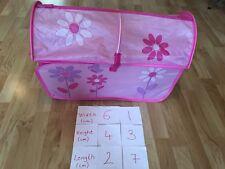Girls' Pink Floral Pop Up Canvas Toy Storage Box