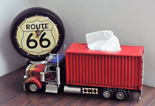 "Rectangular Tissue Holder 10 Wheeler Box Container Truck 19.5"" Scale Metal Model"