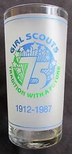 1987 Girl Scouts 75th Anniversary Frosted Glass - Kentuckiana Council