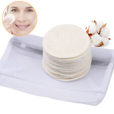 18 Pieces Reusable Organic Bamboo Cotton Rounds Washable Facial Cleaning Cloths