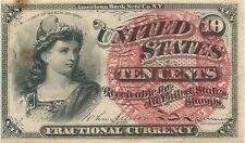 FRACTIONAL 10 CENTS 4th ISSUE ~ FR 1257 ~ COLUMBIA ~ CHOICE UNCIRCULATED NOTE