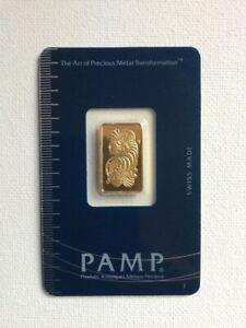 Lingotin 5 Gram 999.9 Fin Or 24K PAMP Fortuna Lingot Barre