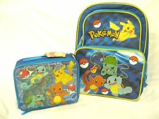 """POKEMON 16"""" BACKPACK AND MATCHING POKEMON LUNCHBOX LUNCH BAG-RARE-NEW!"""