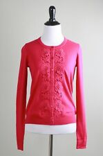 TALBOTS NWT $79 Wool Blend Embroidered Lace Sweater Top Size Petite Small