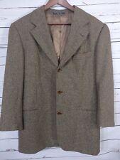 Men's Loro Piana Cashmere Wool Hugo Boss Einstein Blazer 42R Houndstooth Brown