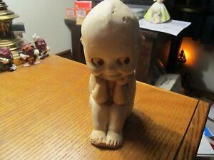 "ANTIQUE RARE Kewpie Doll Figurine ""The Thinker"" 1913 CHALK W/COPYRIGHT PAT PLUG"