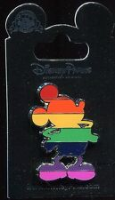 Mickey Mouse Silhouette Pride Rainbow Colors Disney Pin 115075