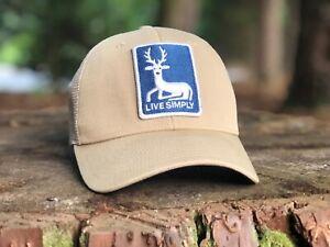 """Patagonia Kid's Trucker Hat  """"Live Simply Deer"""" Spring 2010"""