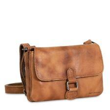 NWT $132 Jack Georges Buffed Leather Tan Mini Crossbody Voyager Handbag