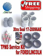 4 TPMS Service Kit for FORD LINCOLN  Xtra Seal 17-20096AK