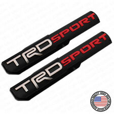 2x 3D TRD Sport Side Fender Front Door Badge Logo Nameplate Emblem Decoration