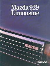 Mazda 929 Limousine Prospekt 5/82 car brochure 1982 Auto Autoprospekt PKWs Japan