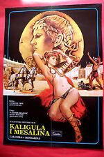 CALIGULA AND MESSALINA 1981 BETTY ROLAND BRUNO MATTEI RARE EXYU MOVIE POSTER