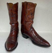 Lucchese Classics L684124 Tobacco Brown Calfskin Cowboy Boots 12D
