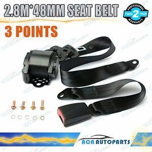 For Toyota 3-Point Universal Safety Seat Belt Black 2.8mSeatbelt Strap Retractor