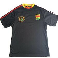 Ghana Soccer National Team Jersey Freedom and Justice Embroidery Sz Large
