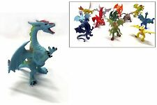 3 x Kids Children's PVC Toy Flying Dragon Figure Ancient Mythical Magic Fantasy