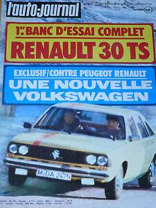 L'AUTO JOURNAL 1975 8 DATSUN 260 Z RENAULT 30 TS VW GOLF 1100 L 800KM DE DIJON