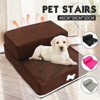 67cm 2 Step Cat Dog Ramp Pet Stair Portable Folding Sponge Easy Climb Up     L9