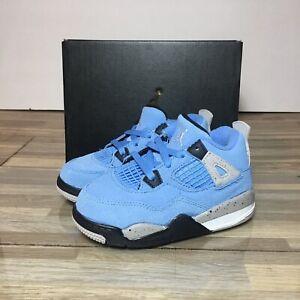Nike Air Jordan 4 Retro University Blue Baby Toddler Size 6C Style: BQ7670-400