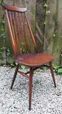 Ercol Goldsmith Windsor High-back Dining Chair model 369 traditional blue label