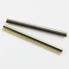 100Pcs Gold Plated 1.27mm 2x50 Pin 100 Pin Male Double Row Straight Header Strip