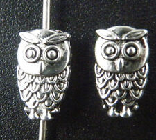 100pcs Tibet Silver Lovely Owl Spacers 10.5x6mm ZN47233