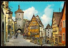 c1960 Am Plonlein Rothenburg Germany Kruger postcard