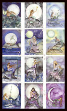 NIGHT MERMAID NOTE CARDS from Original Watercolors by Camille Grimshaw moon star