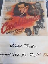 Casablanca 1980's Humphrey Bogart vintage wall poster rolled Pbx2590