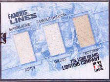 2010-11 ITG FAMOUS LINES BOSSY GILLIES TROTTIER SILVER 9/9 SUPERLATIVE FABRICS