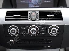 Se adapta a BMW E60 E61 Aluminio Anillos de Control Calentador A/C Anillos