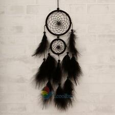 "Black Large Feater Handmade Dream Catcher Car Wall hanging Crafts Gift 25.5"" A"