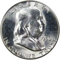 1956 50c Franklin Silver Half Dollar US Coin Uncirculated Mint State