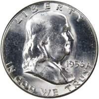 1956 Franklin Half Dollar BU Uncirculated Mint State 90% Silver 50c US Coin