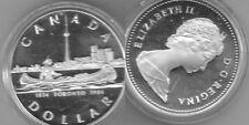 MONETA CANADA 1 DOLLAR DOLLARO ELISABETTA II - ARGENTO - 1834 TORONTO 1984
