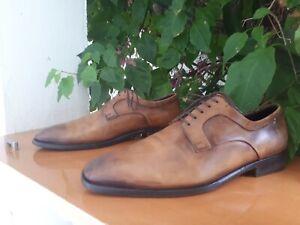 Ermenegildo Zegna Men's Brown Leather Oxford Dress shoes Size US 11 D