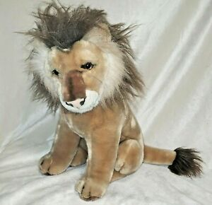 """Realistic Lion 15"""" Plush Toy Stuffed Animal Cat Excellent Condition"""