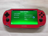 Y2900 Sony PS Vita 1000 console Wi-Fi model Cosmic Red PCH-1000 ZA03 English