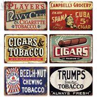 Smoke Sign Metal Tin Warning Tobacco Cigar Cigarette Poster Decor Bar Retro New