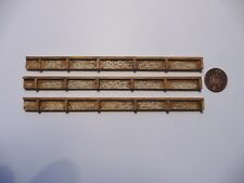 Z Gauge 3 sections of Harbour walls (highly detailed unpainted resin)